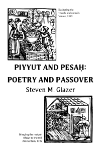 Piyyut and Pesah: Poetry and Passover Cover Image